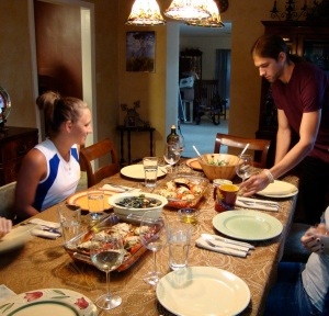 Nicole anticipates a great dinner while Will helps in preparation